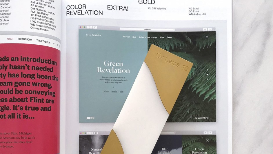 color revelation valentine laus oro 2018 diariodesign