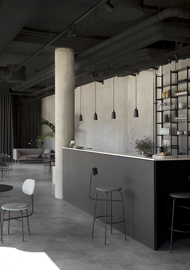 bar del showroom de menu en copenhagen de norm architects diariodesign