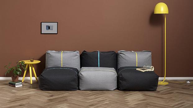 sofa con pouf ori de zaozuo de yonoh design diariodesign