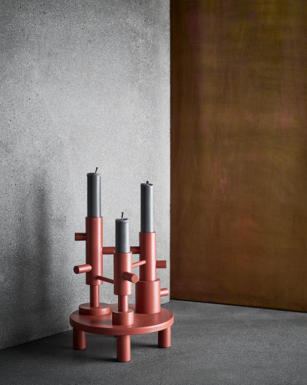 candelabros terracota de hayon para FritzHansen colleccion Objects de accesorios nordicos diariodesign
