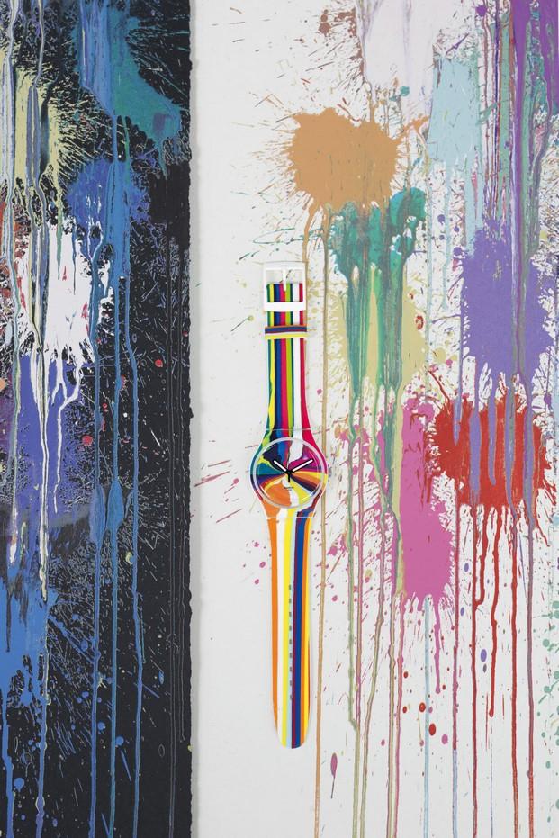 instalacion de Swatch Art Specialen Giardini Colourfall para la biennale de venecia diariodesign