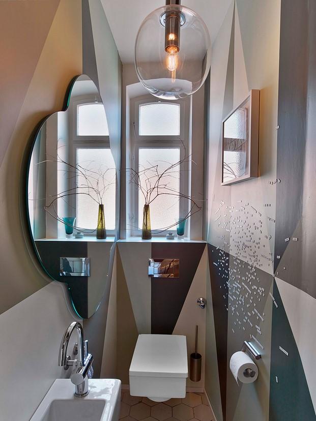 bano pequeno en un a casa en Stuttgart de Ippolito Fleitz tendencias interiorismo en diariodesign