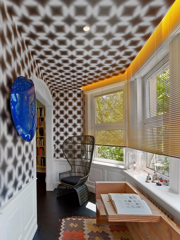 papel pintado en Casa en Stuttgart de Ippolito Fleitz tendencias interiorismo en diariodesign