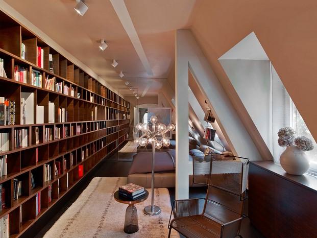 biblioteca de una Casa en Stuttgart de Ippolito Fleitz tendencias interiorismo en diariodesign