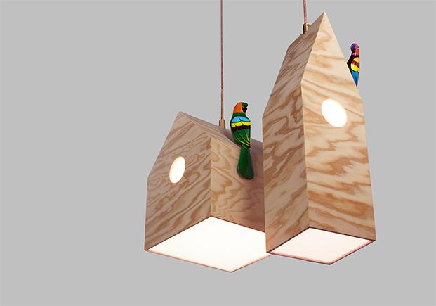 lampara NiuLamp en restaurante mes vilar diariodesign