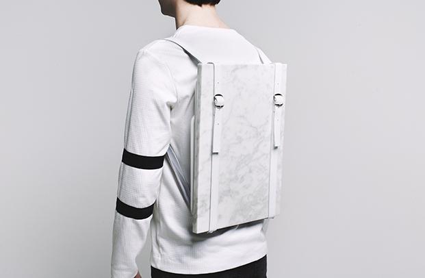 mesa mochila blanca portatil para picnic diariodesign