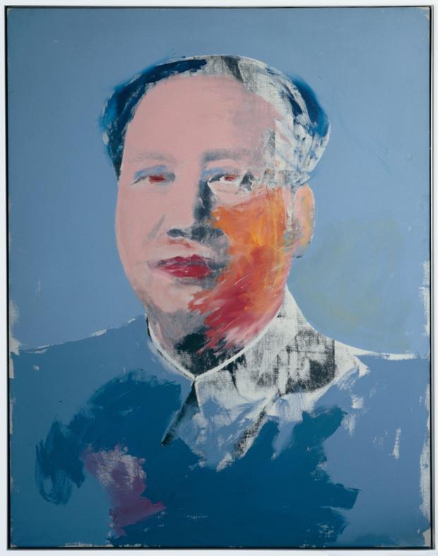 retrato de maho de warhol en la exposicion de caixaforum barcelona