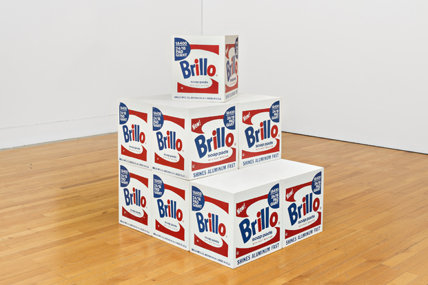 brillo box en la expo de warhol en caixaforum barcelona diariodesign