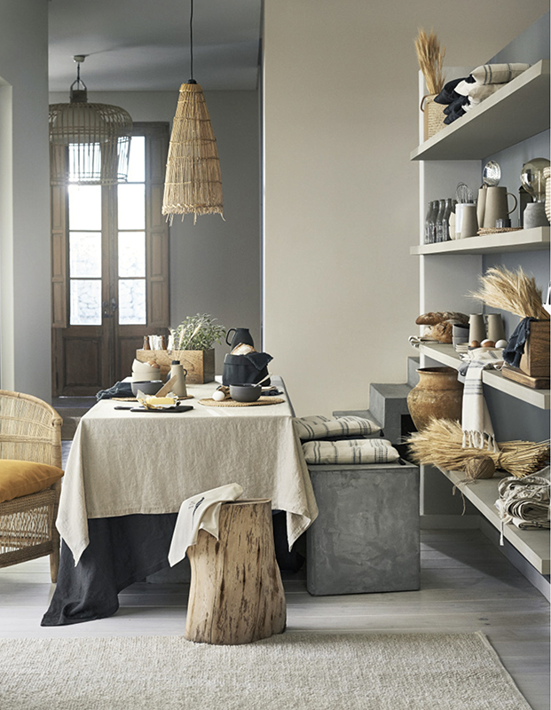 textiles hm home ambiente rural diariodesign