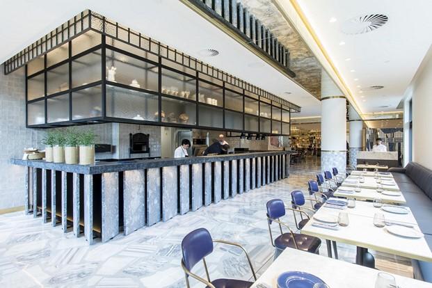 mesas restaurante impar hotel sofia de Jaime Beriestain diariodesign