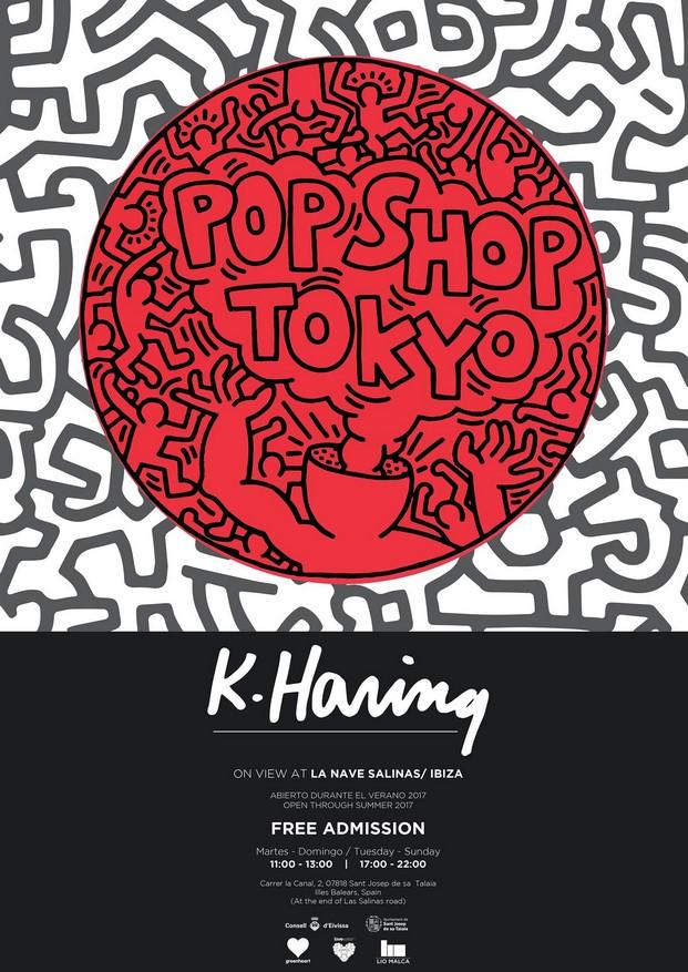 cartel de keith haring en la sala la nave en ibiza diariodesign