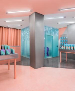 Ambiente tecnológico para la segunda tienda Doctor Manzana iphone de Masquespacio