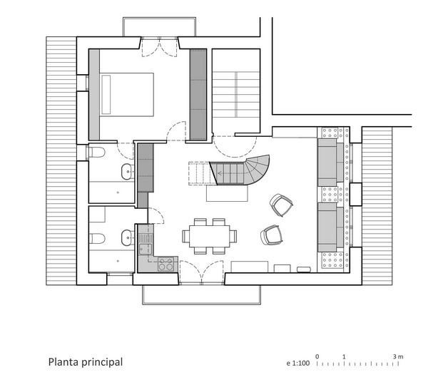 plano apartamento de montana