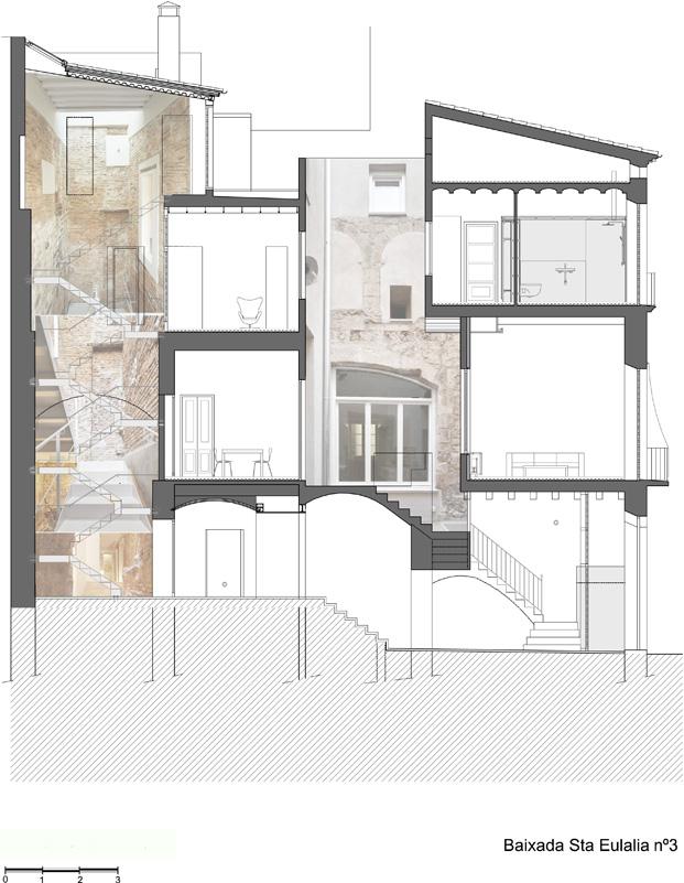 plano de una rehabilitacion en barcelona de viviendas diariodesign
