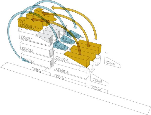 plano de contenedores edificio carroll house en nueva york del estudio lot ek diariodesign