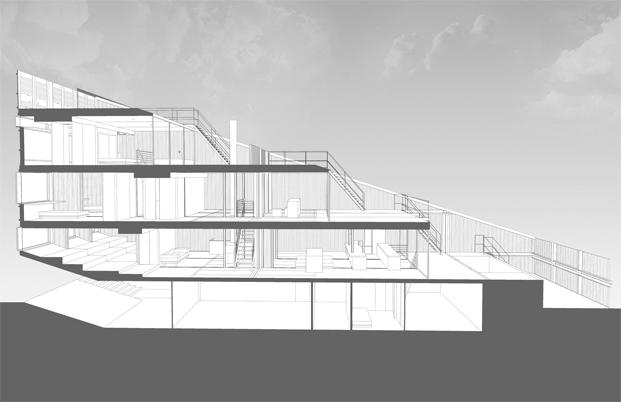 planos del edificio carroll house en nueva york del estudio lot ek diariodesign