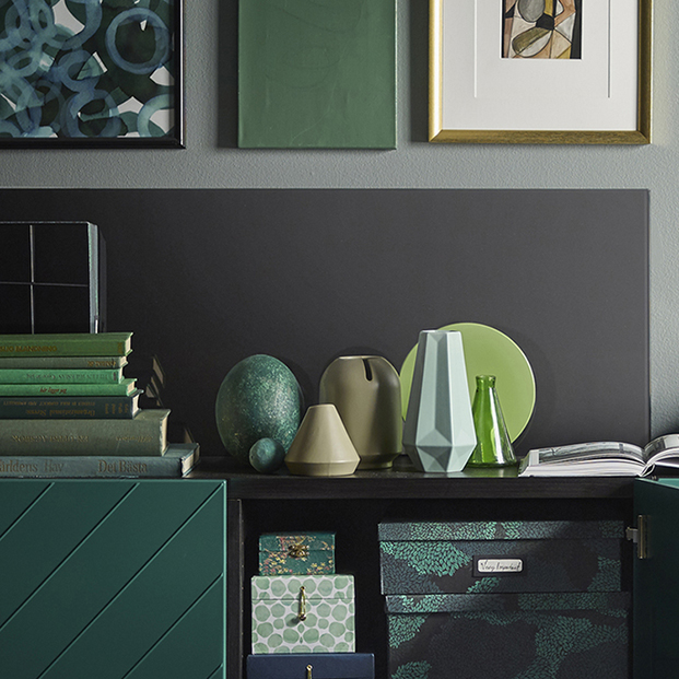 jarrones tonos verdes Gradvis de ikea de Inma Bermudez diariodesign