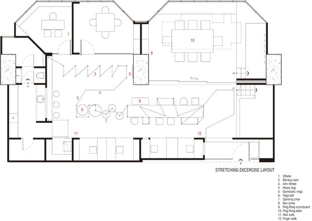 plano de una oficina de onion arquitectos diariodesign