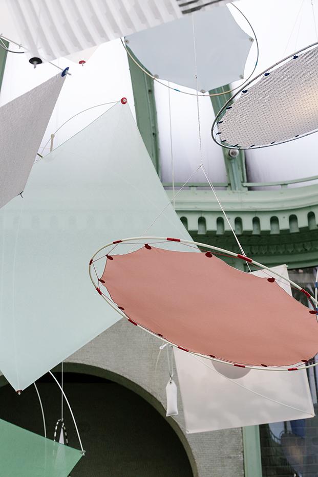 textiles kvadrat en a instalacion Shields en new york diariodesign