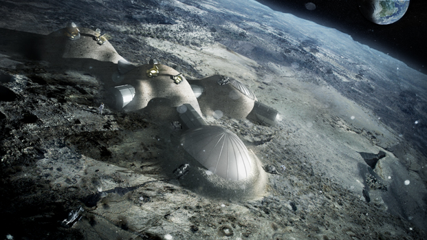 Lunar Habitation en la exposicion de foster de la fundacion telefonica