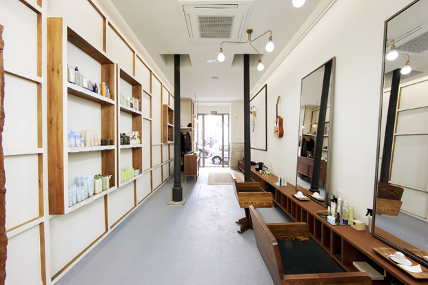 interior Alberto Cali peluqueria en madrid diariodesign