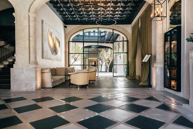 entrada hotel sant francesc casas señoriales palma de mallorca