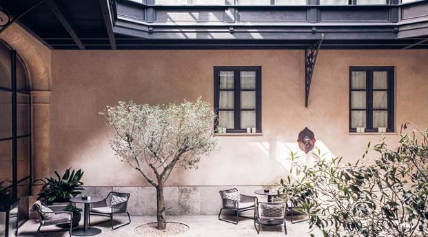 patio hotel sant francesc en mallorca diseno en palma diariodesign