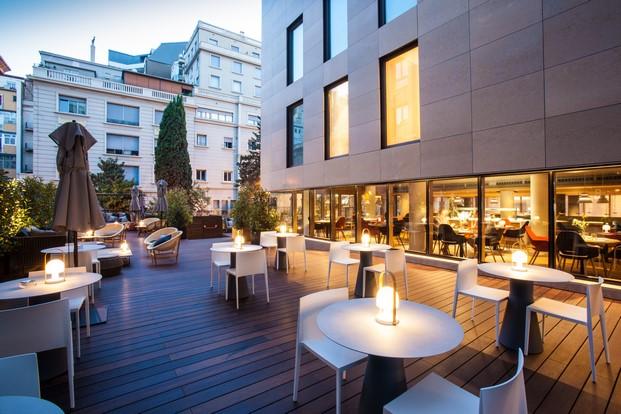 terraza del hotel od barcelona en pleno eixample diariodesign