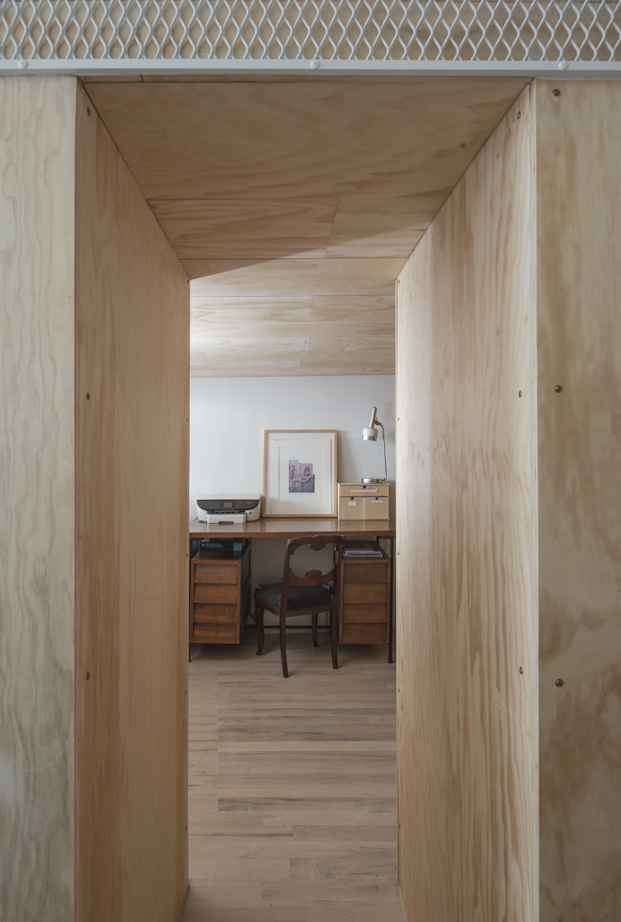 mesa de estudio de un Loft en nueva york diariodesign
