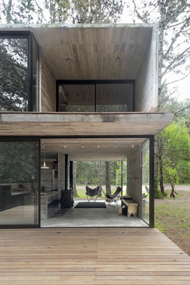 ventanas de casa en hormigon en Argentina diariodesign