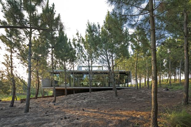 Casa L4 de Luciano Kruk bosque casa de hormigon diariodesign