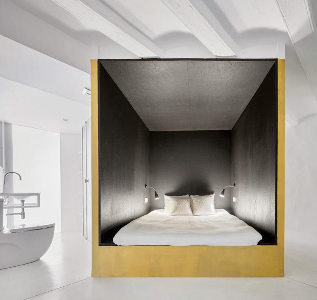 duplex en barcelona dormitorio en un cubo diariodesign
