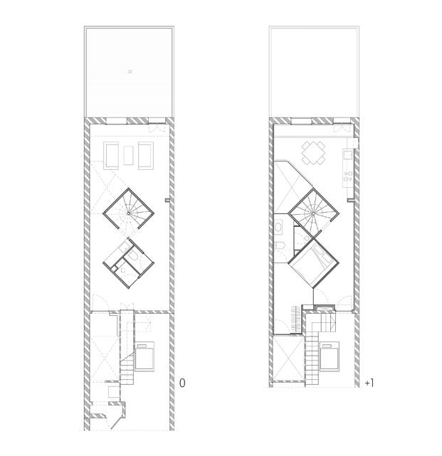 duplex en barcelona planos diariodesign