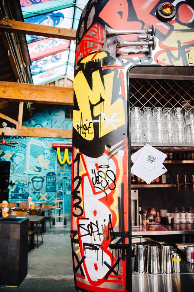 restaurante en londres MEATliquorKX ilustraciones diariodesign