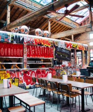 restaurante en londres MEATliquorKX de estilo industrial diariodesign
