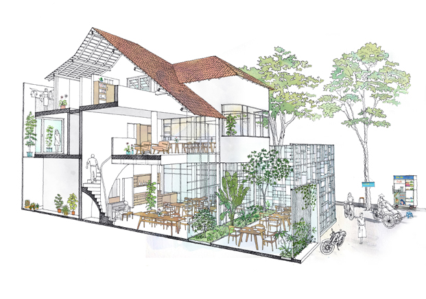 reforma vivienda T House KIENTRUCO boceto diariodesign
