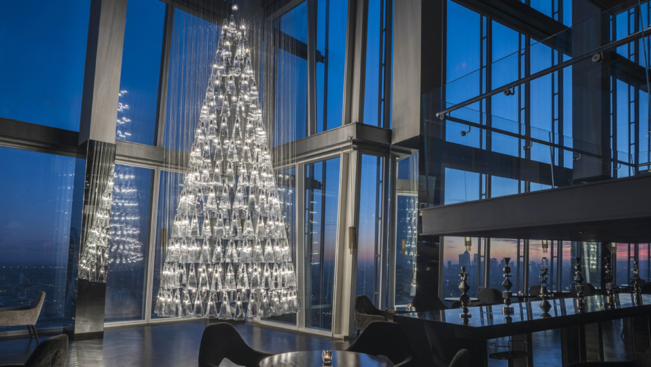 arbol de navidad de vidrio Lee Broom Nude Aqua the shard diariodesign