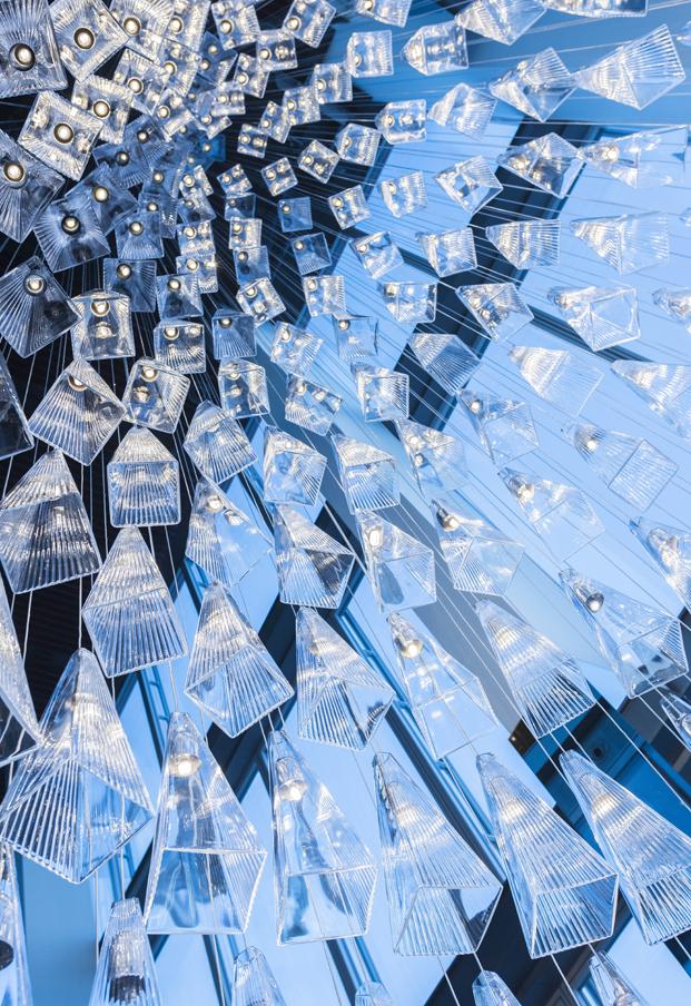arbol de navidad de vidrio led the shard diariodesign