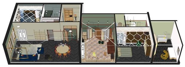 plano de una reforma de un apartamento en venecia