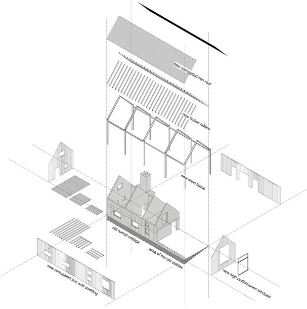 plano croft lodge studio ruina habitada Kate darby david connor diariodesign