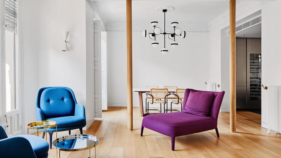 vivienda de estilo clasico con muebles de diseno diariodesign