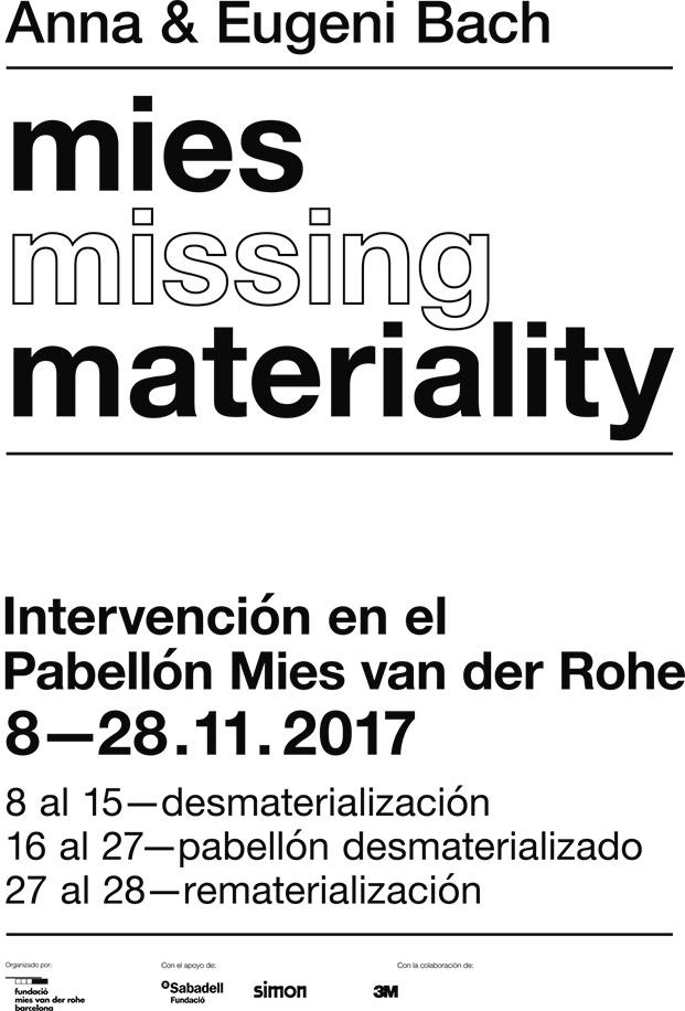 cartel intervencion pabellon mies van der rohe diariodesign
