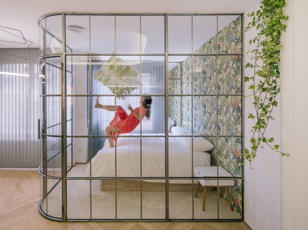 apartamentos en madrid A11 Fast Furious paredes de vidrio diariodesign