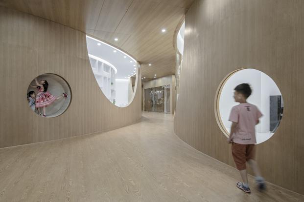 escuela Rockery for play inspirado enun jardin tradicional chino diariodesign