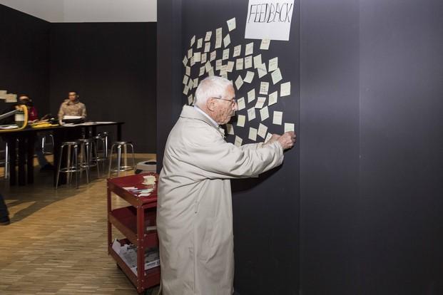 Alessandro Mendini, en la exposición de la Triennale ied diariodesign