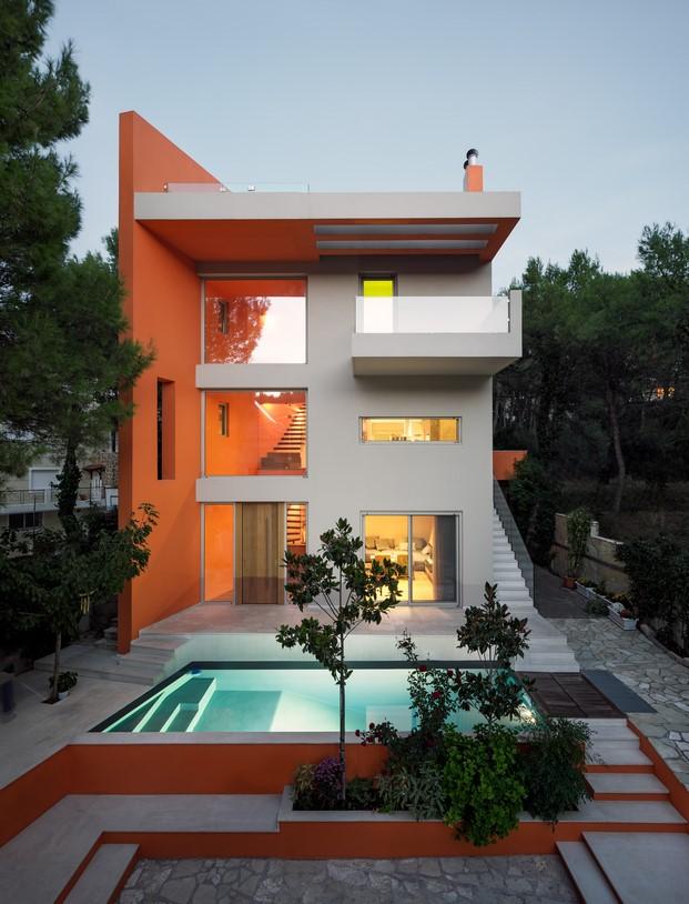 casa de colores en stamata fachada diariodesign