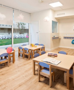 pia capdevila interiorismo infantil y minimalista en la guarderia happy way turo park en Barcelona diariodesign