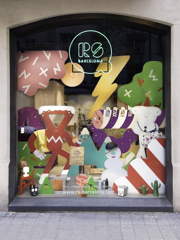 tienda rs barcelona escaparate navidad diariodesign