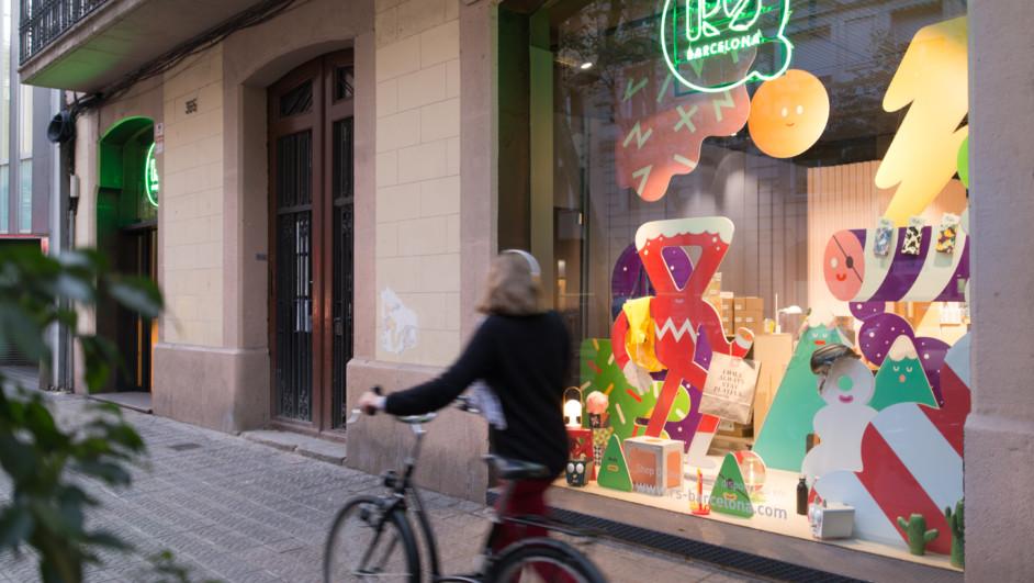 tienda rs barcelona escaparate navidad brosmind diariodesign