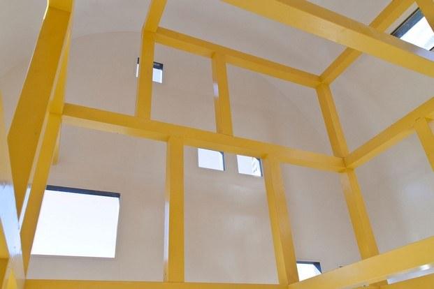 acuarela de ettore sottsass bienal arquitectura Orleans escultura amarilla diariodesign